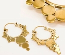 Elementals Organics ORG905-pair 18g Bronze Indonesia BUBBLES Style Earrings - Price Per 2