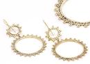 Elementals Organics ORG910-pair CIRCLE DROP 18g Bronze Earrings - Price Per 2