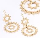 Elementals Organics ORG929-pair 18g GOLD PLATED Circles Earrings - Price Per 2