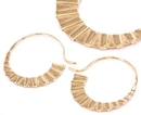 Elementals Organics ORG941-pair 18g GOLD PLATED Chain Love Earrings - Price Per 2
