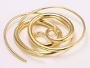 Elementals Organics ORG945-pair 18g-16g Bronze GOLD PLATED SPIRAL Earrings - Price Per 2