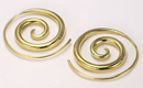 Elementals Organics ORG948-pair 18g-16g BRONZE Tight Spiral Earrings - Price Per 2