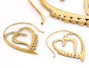 Elementals Organics ORG971-pair Hearted 18g Bronze Earrings - Price Per 2