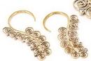 Elementals Organics ORG989-pair 12g BRONZE SERPENTINE Style Earrings - Price Per 2