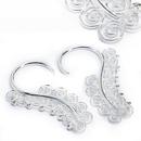 Elementals ORG990-pair 12g Silver SERPENTINE Style Earrings - Price Per 2