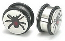 Painful Pleasures P012 ENGRAVED SPIDER SOLID PLUG - Price Per 1 - SALE