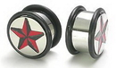 "Painful Pleasures P018 4g - 1"" Nautical Star Stainless Steel Plug - Price Per 1"