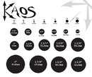 """Kaos P022-clear Clear Silicone Tunnel by Kaos Softwear - 0g up to 1"""" - Price Per 1"""