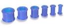 """Painful Pleasures P046-blue BLUE Flexible Wholesale Silicone Earlets Painful Pleasures 6g-1"""" - Price Per 1"""