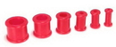 """Painful Pleasures P046-red RED Flexible Wholesale Silicone Earlets Painful Pleasures 6g-1"""" - Price Per 1"""