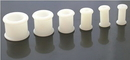 """Painful Pleasures P046-white WHITE Flexible Wholesale Silicone Earlets Painful Pleasures 6g-1"""" - Price Per 1"""