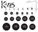 """Kaos P067b_Black Black Silicone Skin Eyelet by Kaos Softwear - 10g up to 3"""" - Price Per 1<br>"""
