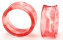 Painful Pleasures P131 PINK Swirl Double Flare Acrylic Plug - Price Per 1