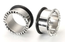 Painful Pleasures P276-rn JAGGED EDGE Single Flared Stainless Steel Earlets - Price Per 1
