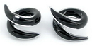 Painful Pleasures P305-pair 2g-0g-00g Twister BLACK Transliquid Glass Jewelry - Price Per 2