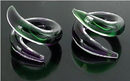 Painful Pleasures P309-pair 2g-0g-00g Twister was Green/Purple Transliquid Glass Jewelry - Price Per 2 (NOW PINK/Green)