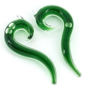 Painful Pleasures P315-pair 2g-0g-00g Transliquid Green DROP Glass Jewelry - Price Per 2