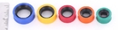 """Painful Pleasures P361 Yellow with Black Inlay PROPYLUX Double Flare Plugs from 5/8"""" up to 1-5/8"""" - Price Per 1"""