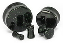 Painful Pleasures P408 Green Goldstone Glass Double Flare Plug - Price Per 1
