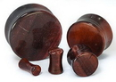 """Painful Pleasures P410 RED TIGERS EYE STONE Double Flare Plugs 10g - 1"""" - Price Per 1"""