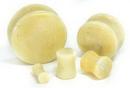 "Painful Pleasures P411 YELLOW BURMESE STONE Double Flare Plugs 10g - 1"" - Price Per 1"