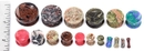 """Painful Pleasures P415 GREEN SPOT MARBLE Stone Double Flare Plugs 10g - 1"""" - Price Per 1"""