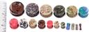 "Painful Pleasures P417 Azurite Malachite Stone Double Flare Plugs 10g - 1"" - Price Per 1"