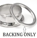 """Painful Pleasures P428 BACKING ONLY For Threaded Tunnels 10g to 1"""" - Price Per 1"""