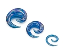 Painful Pleasures P485 Blue Lucifer Spiral Glass Plug - Price Per 1