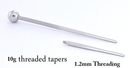 Pierced Tools RES226 10g 1 inch Threaded Taper with 1.2mm Threading