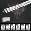 Needles TAT-703-896-BOX #10 BugPin Magnum Premade Sterilized Tattoo Needles on Bar - Box of 50