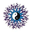 """Painful Pleasures TAT-946 YING YANG SYMBOL with FLAMES Temporary Tattoos - 2""""x2"""""""