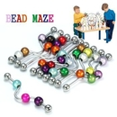 Painful Pleasures UB133 14g 1.5'' Bead Maze Industrial Barbell