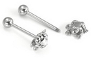 Painful Pleasures UB139 14g 5/8'' Steel Casted Frog Straight Barbell
