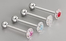 Painful Pleasures UB207 14g 5/8'' Steel Casted Multi Gem Circle Straight Barbell