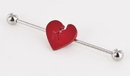 Painful Pleasures UB329 16g 1 3/8'' Broken Heart Industrial Barbell
