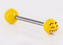 Painful Pleasures UB330 14g 5/8'' Acrylic Emoji Straight Barbell