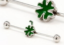 Painful Pleasures UB341 16g 1 3/8'' Shamrock Industrial Barbell