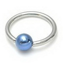 Painful Pleasures UR134 14g Captive Ring with Colored Ball