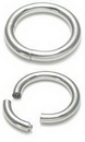 Painful Pleasures UR211-10g-seg 10g Stainless Steel Segment Ring