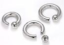 Painful Pleasures UR244 4g Steel Screw on Ball Ring Internally Threaded - Price Per 1