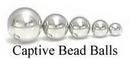 Painful Pleasures UR263-UR268 Steel Captive Bead Replacement Balls- 3mm-10mm
