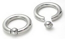 Painful Pleasures UR336-pop 6g Stainless Steel Captive Bead Ring with Pop Fit Ball