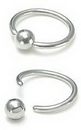 Painful Pleasures UR343-annealed 10g Annealed Stainless Steel Captive Bead Ring