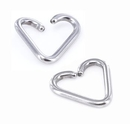 Painful Pleasures UR351 16g Annealed Stainless Steel Heart