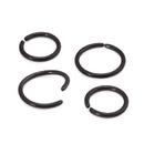 Painful Pleasures UR427-black 16g Black Seamless Niobium Ring