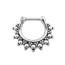 Painful Pleasures UR566 16g Antique Beaded Steel Septum Clicker