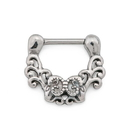Painful Pleasures UR572 16g Antique Filigree Steel Septum Clicker