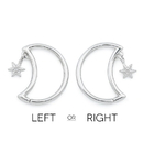 Painful Pleasures UR577 16g Winter Crescent Moon Bendable Ear Jewelry with Snowflake Dangle - Price Per 1