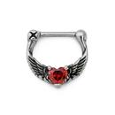 Painful Pleasures UR590 16g Angel Wings Heart Steel Septum Clicker